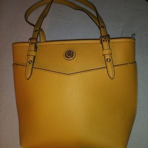 Anne Klein Yellow/Gold Front Outside Pocket Tote
